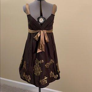 BCBG bubble silk dress